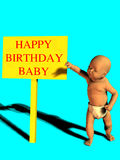 γενέθλια μωρών ευτυχή απεικόνιση αποθεμάτων