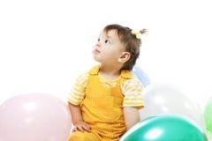 γενέθλια μωρών baloons πρώτα ευτ&ups Στοκ εικόνα με δικαίωμα ελεύθερης χρήσης