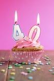 γενέθλια 40 cupcake Στοκ Εικόνες