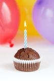 γενέθλια cupcake πρώτα Στοκ εικόνα με δικαίωμα ελεύθερης χρήσης