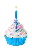 Γενέθλια cupcake Στοκ εικόνες με δικαίωμα ελεύθερης χρήσης
