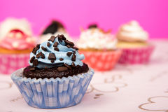 γενέθλια cupcakes Στοκ φωτογραφίες με δικαίωμα ελεύθερης χρήσης