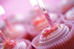 Γενέθλια cupcakes Στοκ Εικόνα