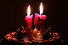Γενέθλια 15 έτη Στοκ Φωτογραφίες