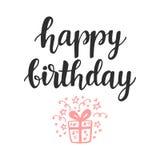 γενέθλια ευτυχή Ευχετήρια κάρτα, πρόσκληση, αφίσα απεικόνιση αποθεμάτων