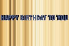 γενέθλια ευτυχή σε σας Στοκ Εικόνες