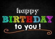 γενέθλια ευτυχή στοκ εικόνα με δικαίωμα ελεύθερης χρήσης