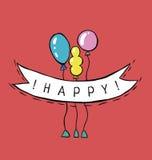 Γενέθλια καρτών ελεύθερη απεικόνιση δικαιώματος