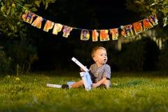 Γενέθλια μικρών παιδιών Στοκ φωτογραφία με δικαίωμα ελεύθερης χρήσης