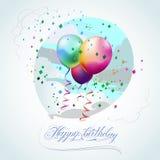γενέθλια μπαλονιών ευτυχή Στοκ φωτογραφίες με δικαίωμα ελεύθερης χρήσης