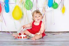 γενέθλια μωρών ευτυχή Στοκ φωτογραφίες με δικαίωμα ελεύθερης χρήσης