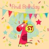 γενέθλια πρώτα Στοκ Εικόνα