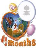 Γενέθλια, τετράμηνα για το μωρό Στοκ Εικόνα