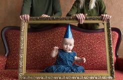 Γενέθλια του μικρού κοριτσιού Στοκ Εικόνες
