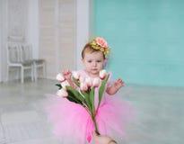 Γενέθλια του μικρού κοριτσιού Στοκ Εικόνα