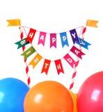 γενέθλια cupcake ευτυχή Στοκ εικόνες με δικαίωμα ελεύθερης χρήσης