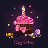 Γενέθλια Cupcake απεικόνιση αποθεμάτων