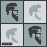 Γενειάδα εικονιδίων hairstyles απεικόνιση αποθεμάτων