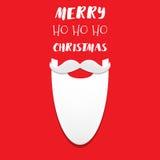 Γενειάδα Santa ` s με το σημάδι Χαρούμενα Χριστούγεννας Στοκ φωτογραφίες με δικαίωμα ελεύθερης χρήσης