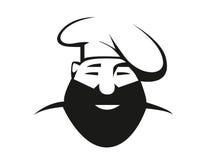Γενειοφόρος αρχιμάγειρας στην τόκα Στοκ εικόνα με δικαίωμα ελεύθερης χρήσης