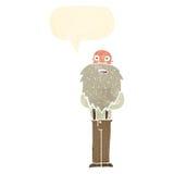 γενειοφόρος ηληκιωμένος κινούμενων σχεδίων με τη λεκτική φυσαλίδα Στοκ Φωτογραφία