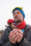 Γενειοφόρος καφές κατανάλωσης ατόμων Στοκ φωτογραφία με δικαίωμα ελεύθερης χρήσης