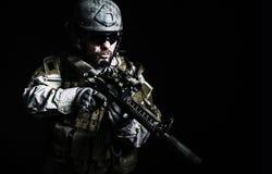 Γενειοφόρος στρατιώτης ειδικών δυνάμεων Στοκ εικόνα με δικαίωμα ελεύθερης χρήσης