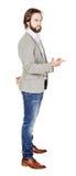 Γενειοφόρο άτομο που δείχνει το δάχτυλό του ενάντια σε κάποιο ανθρώπινη συγκίνηση, Στοκ Εικόνα