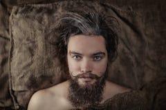 γενειοφόρο πορτρέτο ατόμ&om Στοκ Εικόνα