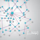 γενετικές και χημικές ενώσεις τρισδιάστατη εικόνα δικτύων που καθίσταται κοινωνική επιστήμη Στοκ Φωτογραφία