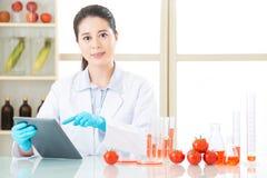 Γενετική ανάγκη τροφίμων τροποποίησης να είναι έρευνα για τον άνθρωπο Στοκ Εικόνες