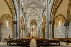 ΓΕΝΕΥΗ, ΕΛΒΕΤΙΑ †«στις 29 Αυγούστου 2017: Καθεδρικός ναός του ST Peter ` s στοκ φωτογραφία με δικαίωμα ελεύθερης χρήσης