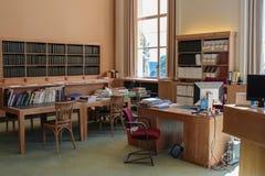 ΓΕΝΕΥΗ, ΕΛΒΕΤΙΑ - 15 Σεπτεμβρίου - βιβλιοθήκη των Ηνωμένων Εθνών Στοκ Εικόνα