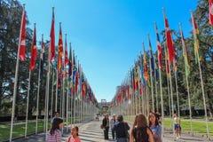 ΓΕΝΕΥΗ, ΕΛΒΕΤΙΑ - 15 Σεπτεμβρίου - σπασμένη έδρα Στοκ Φωτογραφίες