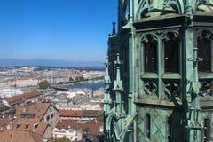 Γενεύη, άποψη της πόλης από ένα ύψος Στοκ φωτογραφία με δικαίωμα ελεύθερης χρήσης