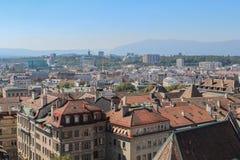 Γενεύη, άποψη της πόλης από ένα ύψος Στοκ φωτογραφίες με δικαίωμα ελεύθερης χρήσης