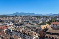 Γενεύη, άποψη της πόλης από ένα ύψος Στοκ εικόνα με δικαίωμα ελεύθερης χρήσης