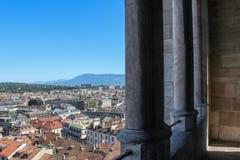 Γενεύη, άποψη της πόλης από ένα ύψος Στοκ εικόνες με δικαίωμα ελεύθερης χρήσης