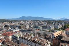 Γενεύη, άποψη της πόλης από ένα ύψος Στοκ Φωτογραφίες