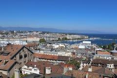 Γενεύη, άποψη της πόλης από ένα ύψος Στοκ Εικόνες