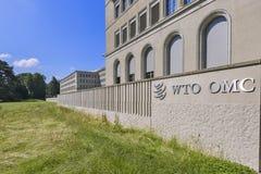 Γενεύη, Ελβετία, η έδρα του ΠΟΕ Παγκόσμιου Οργανισμού Εμπορίου Στοκ Εικόνες
