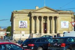Γενεύη, Ελβετία - 18 Οκτωβρίου 2017: Θέση Neuve με την τέχνη mus Στοκ Εικόνα