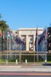 Γενεύη, Ελβετία - 18 Οκτωβρίου 2017: Μέλος ST Ηνωμένων Εθνών Στοκ Φωτογραφία