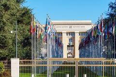 Γενεύη, Ελβετία - 18 Οκτωβρίου 2017: Μέλος ST Ηνωμένων Εθνών Στοκ Εικόνα