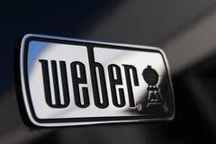 Γενεύη/Ελβετία 11 07 2018: BBQ σχαρών σχαρών Weber καλοκαίρι στοκ φωτογραφίες