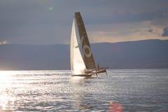 Γενεύη Ελβετία - 10 06 2018: Bol Δ ` ή πλέοντας βάρκα Petercam Degroof Regatta Ελβετία τετρ.μέτρο Στοκ φωτογραφία με δικαίωμα ελεύθερης χρήσης