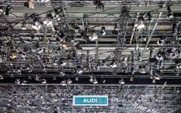 Γενεύη Motorshow 2012 - έμβλημα Audi Στοκ Εικόνες