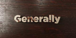 Γενικά - βρώμικος ξύλινος τίτλος στο σφένδαμνο - τρισδιάστατο δικαίωμα ελεύθερη εικόνα αποθεμάτων απεικόνιση αποθεμάτων