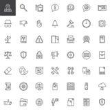 Γενικά εικονίδια περιλήψεων κανονισμού προστασίας δεδομένων καθορισμένα απεικόνιση αποθεμάτων