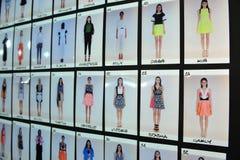 Γενικά παρασκήνια ατμόσφαιρας κατά τη διάρκεια του Byblos παρουσιάζουν ως μέρος της εβδομάδας μόδας του Μιλάνου Στοκ Εικόνες